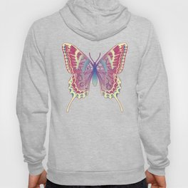 Unique Butterfly Bamboo leaves Pattern Hoody
