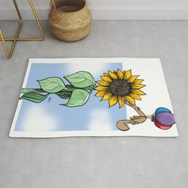Floating toward a dream Rug