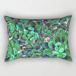 Floral tribute [green] Rectangular Pillow