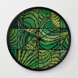 Tropic Night Green Wall Clock