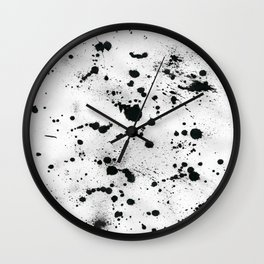 Inkblot Wall Clock