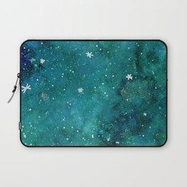 Watercolor galaxy - teal Laptop Sleeve
