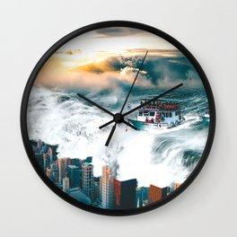 Rising Seas Wall Clock