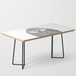 Black and White Hedgehog Coffee Table