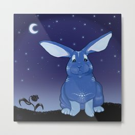 Bunny Blues Metal Print