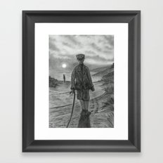 Who is This Who is Coming. Framed Art Print