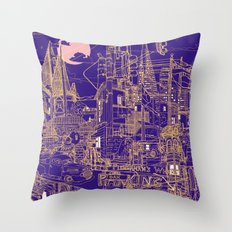 San Francisco! (Night) Throw Pillow