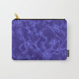 Flower Pattern (Blue version) Carry-All Pouch