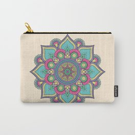 Floral Mandala Carry-All Pouch