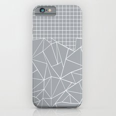 Abstract Outline Grid Grey iPhone 6 Slim Case