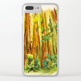 Redwood National Park Clear iPhone Case
