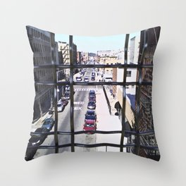wrong turn in brooklyn Throw Pillow