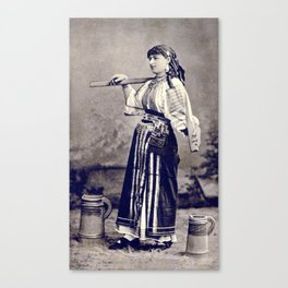 Romanian Beauty Canvas Print