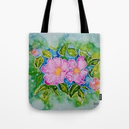 Alberta Wild Rose Tote Bag
