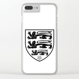 British Three Lions Crest Clear iPhone Case