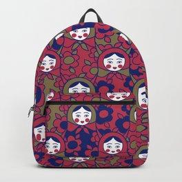 russian matrioshka pattern Backpack