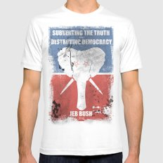SUBVERTING THE TRUTH  Mens Fitted Tee White MEDIUM