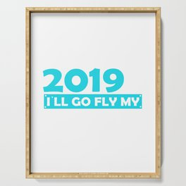 Retired 2019 I´ll go fly my plan Serving Tray