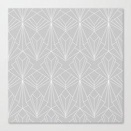 Art Deco on Grey Canvas Print