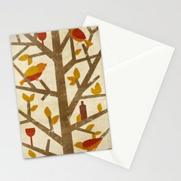 birds and wine Stationery Cards