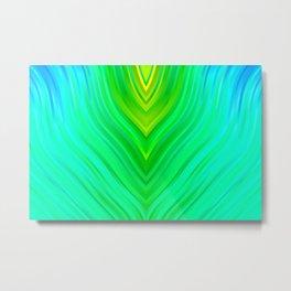 stripes wave pattern 3 sm60 Metal Print