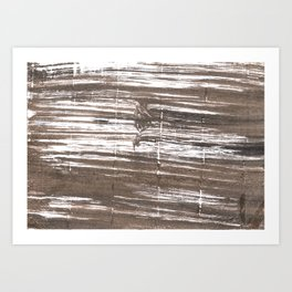 Umber abstract watercolor background Art Print