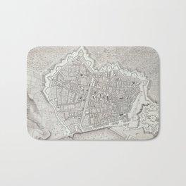 Vintage Map of Barcelona Spain (1806) Bath Mat