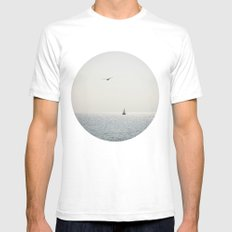 Fly over the sea Mens Fitted Tee White SMALL