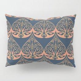 Art Deco - Blue & Coral Pillow Sham
