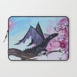 Baby Black Dragon in Cherry Tree Laptop Sleeve