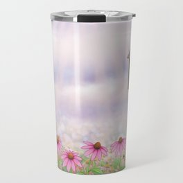 eastern bluebirds, echinacea, and bumble bees Travel Mug