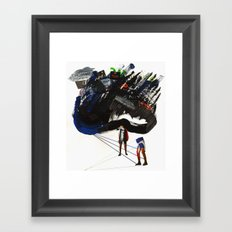 Dark days Framed Art Print