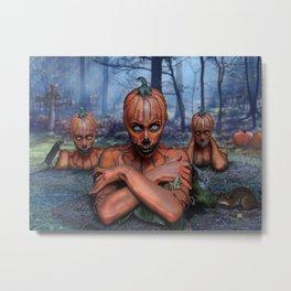 Mrs. Bhisar's Pumpkin Patch Metal Print