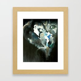 Wolf In Space Framed Art Print