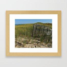 Cape Cod Beach Dunes Framed Art Print