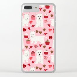 Westie west highland terrier dog breed valentines day cute dog person must have gifts pet portraits Clear iPhone Case