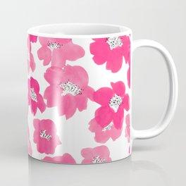Camellia Flowers in Pink Coffee Mug