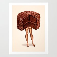 Cake Girl - Devil's Food Art Print