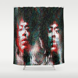 Hendrix impressionism double effect Shower Curtain