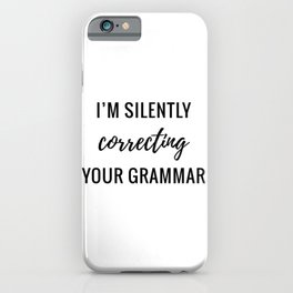 Silently Correcting iPhone Case