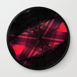 Connect - Geometric Abstract Art Wall Clock