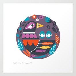 NESTING PRINT Art Print