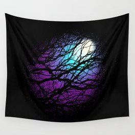 lights in the forest Wall Tapestry