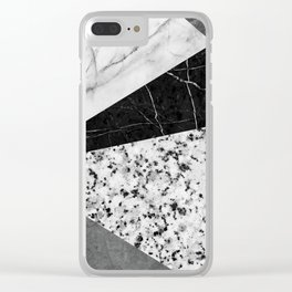 Marble and Granite Abstract Clear iPhone Case