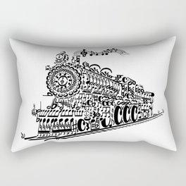 Musical Train (Steam Train) Silhouette Art Rectangular Pillow