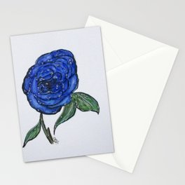 Blue And Wet, Rose Stationery Cards