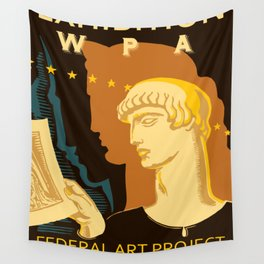 Federal Art Pennsylvania retro ad Wall Tapestry