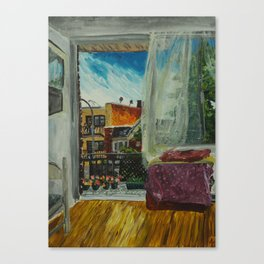 Montreal Living Room and Balcony  Canvas Print