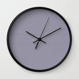 Grey Suit Flat Wall Clock