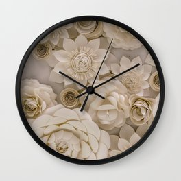 Paper Bouquet Wall Clock